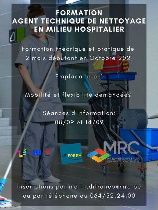 Formation «Agent Technique de Nettoyage en milieu hospitalier»