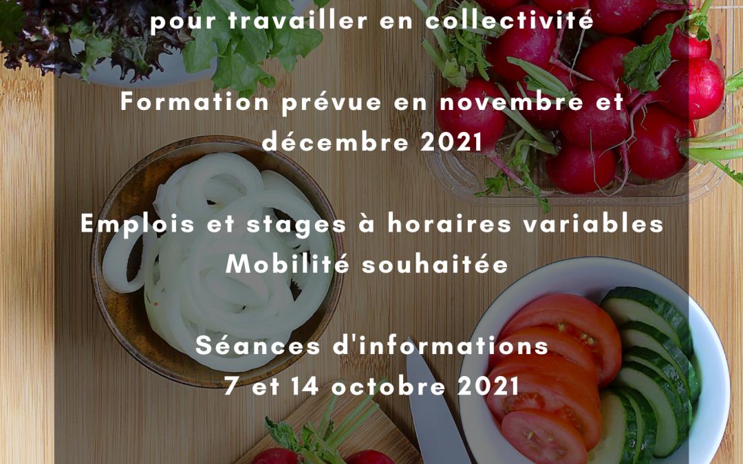 Formation commis de cuisine en collectivité